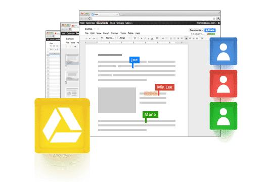 Travailler à plusieurs sur un document, c'est possible avec Google Drive!