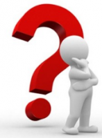 Créateur d'entreprise interrogatif devant un grand point d'interrogation