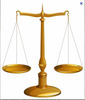 balance équilibrée pour représenter la répartition égalitaire du capital social