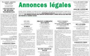 Fiche pratique : le Journal d'Annonces Légales (JAL)