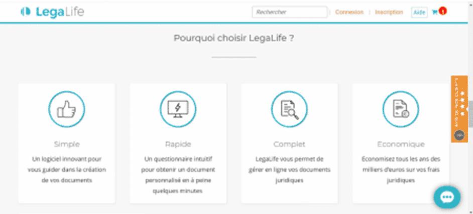 avis et test de la plateforme juridique legalife