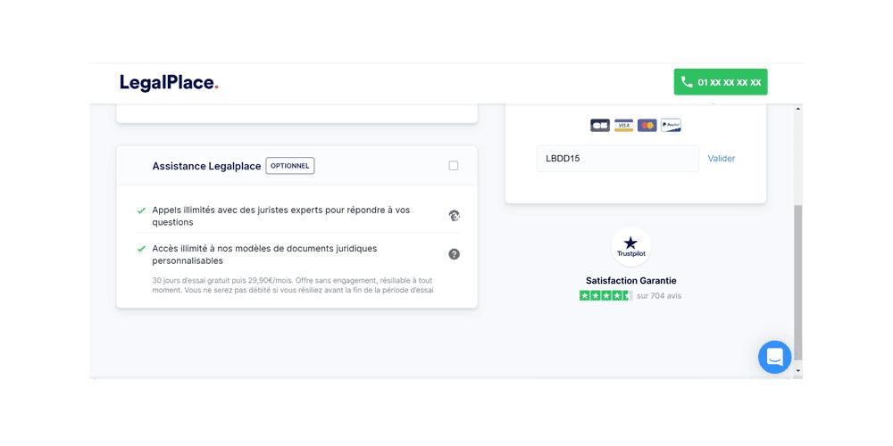 avis et test de la plateforme en ligne Legalplace pour créer votre société en ligne