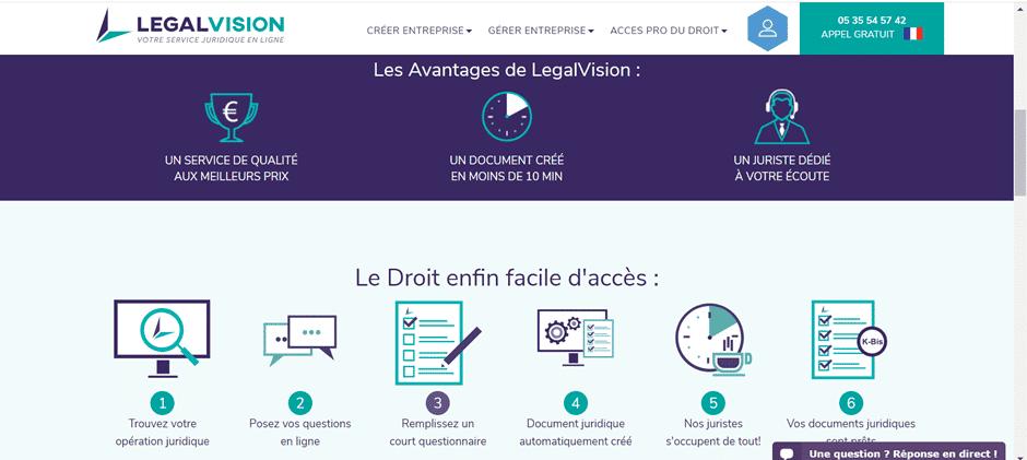 avis et test sur la plateforme Legalvision