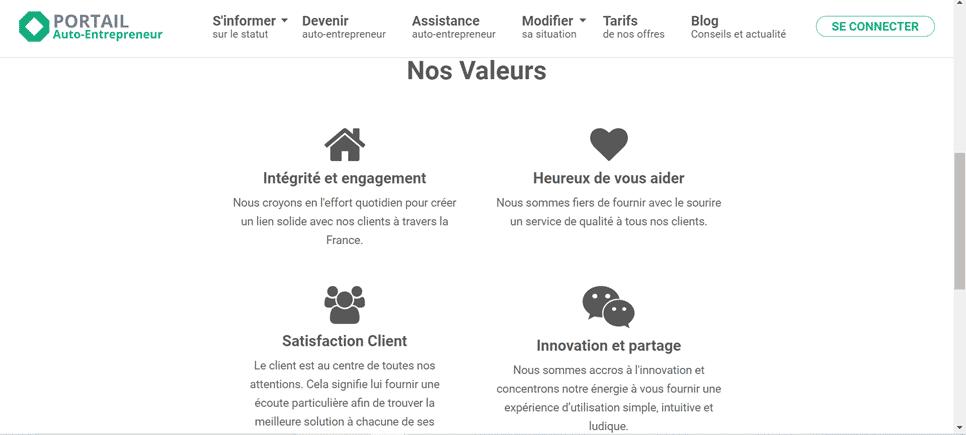 avis et test de la plateforme en ligne Portail auto-entrepreneur pour créer votre entreprise en ligne