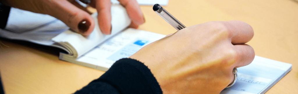 dépôt de chèque dans une banque en ligne