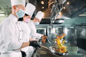 tenue professionnelle cuisinier risque professionnel accident de travail